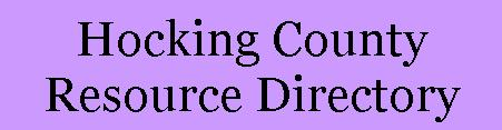 Hocking County Resource Directory